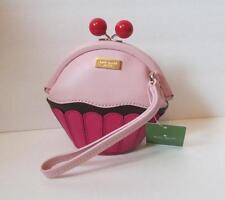 Kate Spade Posie Cupcake wristlet purse crystal pink bag take the cake leather