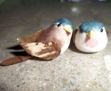 "Decorative 3/4"" Feathered Brown Mushroom Bird Sparrow Craft Cage Supplies 2 Pc"