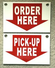 Order Here Amp Pick Up Here Plastic Coroplast Signs 8x12 Withgrommets Restaurant
