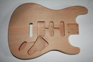 TMG US red alder Strat Body Korpus HSS Arm rest body thumb Gitarrenbau Tremolo