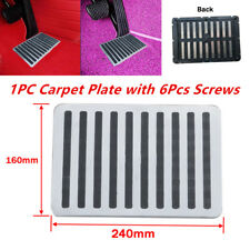 Universal Car Floor Carpet Mat Patch Foot Heel Plate Pedal Pad Stainless +Rubber