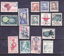 Czechoslovakia postage stamps - 1961-63 15 x Pre-Cancelled MINT Hinged