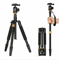 Travel Professional Tripod Ball Head Monopod for Canon Nikon Sony DSLR Camera