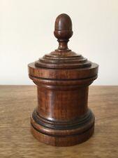 Rare Antique Tobacco Jar, Antique Spice Pot, Antique Treen Storage Jar