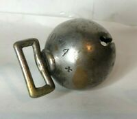 Antique Nickel Over brass Sleigh Bell Carriage Ball Stamped Victoria No 23