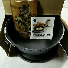 New Lodge L12CO3 Cast Iron Camp Dutch Oven 6 Quart Made in USA Camping
