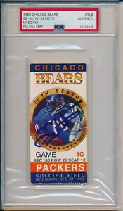 Mike Ditka Signed 1989 Chicago Bears vs Packers Ticket Stub 12/17/89 PSA/DNA