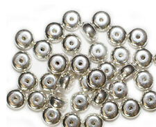5x8mm Rondelle Disc Spacer Bright Silvertone Metalized Metallic Beads