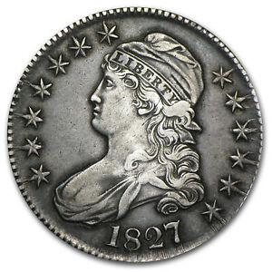1827 Capped Bust Half Dollar Square Base 2 XF - SKU#5340