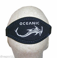 Oceanic Comfort Padded w/ Silicone Mask Strap Scuba Diving Free Dive Clear