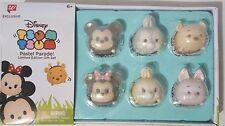 Disney Tsum Tsum Pastel Parade Set of 6 Mickey Minnie Piglet Pooh Exclusive