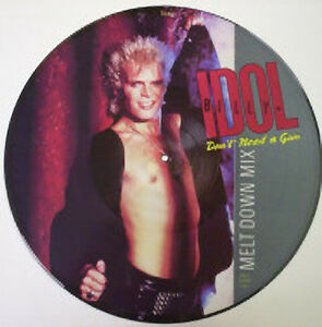Billy Idol, Don't Need A Gun, NEW/MINT PICTURE DISC 12 inch vinyl single