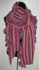 Purple/Pink Multi Colored Oversized Ruffled/Pleated Scarf #123...NEW IN PACKAGE