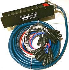 """Whirlwind Medusa Audio Snake: 24 inputs, 4 1/4"""" TRS returns, 100ft"""