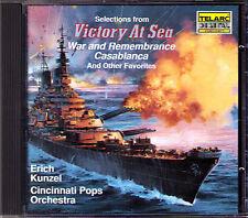Kunzel Victory at Sea était and Remembrance Casablanca CD Telarc Battle of Britain