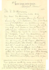 1894 UNITED STATES INDIAN SERVICE / WARS LETTER ~ MN ~ SC ~ ROGER PATTERSON
