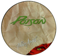 "EX/EX POISON FALLEN ANGEL 12"" VINYL PIC  PICTURE DISC"