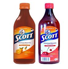 Scott Emulsion Cherry and Orange Flavor. Vitamin Supplement  Cod Liver Oil