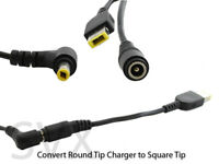 Lenovo  AC/DC Charger/Adapter cable 2.5mm to 5.5mm Converter to square tip YE...