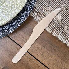 Vaisselle Ecologique naturell jetable - 50 couteaux en Bois