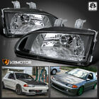 For 1992-1995 Civic Eg Ej Black Replacement Headlights Lamps Leftright 92-95