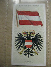PLAYERS CIGARETTE CARD NATIONAL FLAGS & ARMS # 3 AUSTRIA