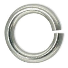 1 STRONG SECURE STERLING SILVER ROUND LOCK RING, 10 MM, SAFER THAN A JUMP RING