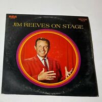 Jim Reeves With The Blue Boys– On Stage: RCA Victor 1968 Vinyl LP (Country)