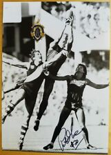 1984 PETER MOORE MELBOURNE HAND SIGNED B&W PHOTO & FREE REPLICA BROWNLOW MEDAL