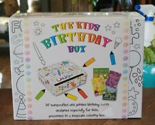 The Kids Birthday Box - 30 Handcrafted Greeting Cards  Keepsake Coloring Box A6