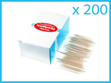 200 x  Individually Wrapped Wooden Toothpicks 65mm Home Party Hotel from Sydney