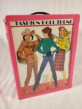 Vintage Pink Fashion Doll Trunk Case Barbie Sindy Darci Tara Toy M-12