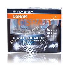 Osram H4 Night Breaker Unlimited Halogen +110% DuoPack ( 2 Stück Glühlampen )
