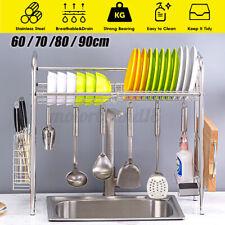 Over The Sink Dish Drying Rack Cutlery Storage Holder Kitchen Drainer Shelf