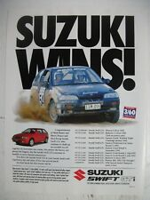 1993 SUZUKI SWIFT GTi SUZUKI SPORT WINS! AUSTRALIAN MAGAZINE ADVERTISEMENT