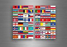 Set 64x sticker european europe flag scrapbooking country collection stamp 5cm A