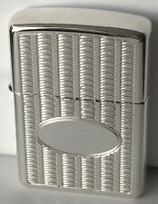 Armor Sterling Silver Zippo Lighter With 22kt. Gold Plated Insert, New In Box