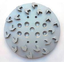 "10"" Concrete Grinding Head Disc Plate for Edco,MK&General Grinders-20Arrow Segs"