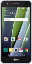 New UNLOCKED LG Risio 2 4G LTE with 16GB Cricket Wireless Cell Phone Silver