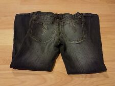 Girls Size 6 Mossimo Supply Skinny Leg Denim Blue Jeans Rhinestone Pockets Bolts