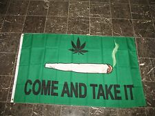 3x5 Green Weed Come and Take it Weed Marijuana Cannibus Flag Poly House Banner