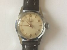Vintage Longines Ladies Watch 1950's Stainless Steel New Strap Running Well