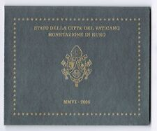 Vaticano oficial rumbo frase 2006 con todas las monedas (1 Cent a 2 euros) prfr.