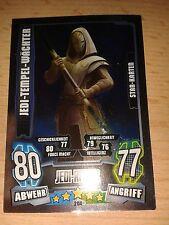 Force Attax Star Wars Serie 4 Star Karte 204 Jedi-Tempel-Wächter Sammelkarte