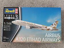 Revell 1/144 Scale A320 Airbus Etihad Airways Plastic Model kit SKU 03968