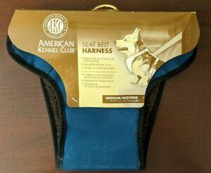 New American Kennel Club AKC Dog Seatbelt Harness For Dogs Blue Medium M