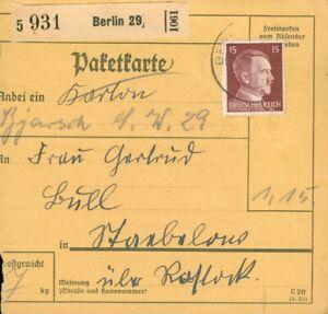 Paketkarte DR Berlin 29