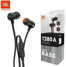 JBL Headphones T280A Pure Bass with Mic Stereo In-ear Wired Headphones-Brand New