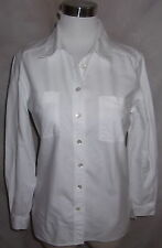 Jaeger Italy Top Shirt Small White Cotton Twill Classic 86CM 34inches
