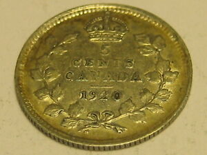 1920 Canadian 5 Cent Silver